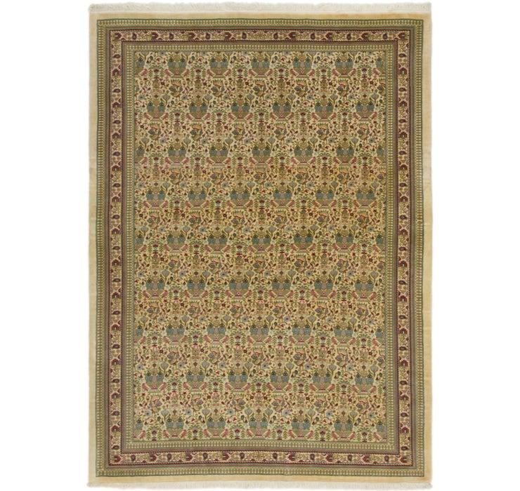Image of 142cm x 195cm Qom Persian Rug