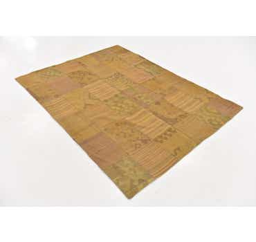 Image of 5' x 6' 8 Kilim Patchwork Rug