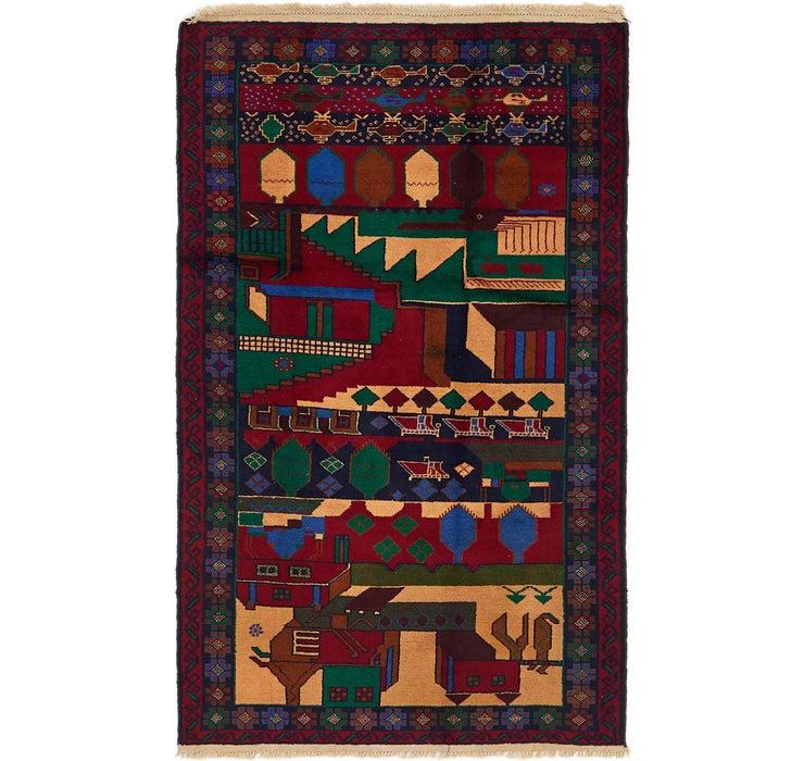 Image of 3' 7 x 6' 5 Balouch Persian Rug