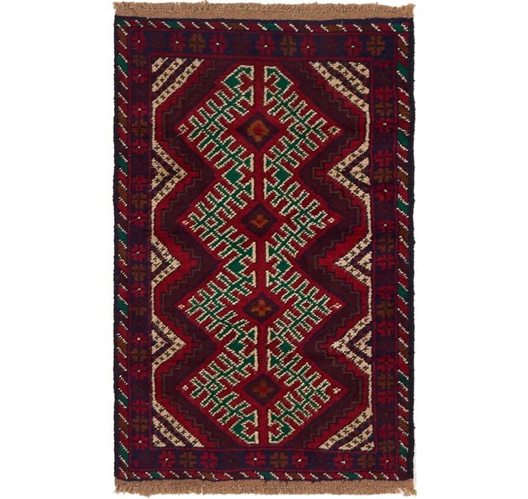 85cm x 137cm Balouch Persian Rug