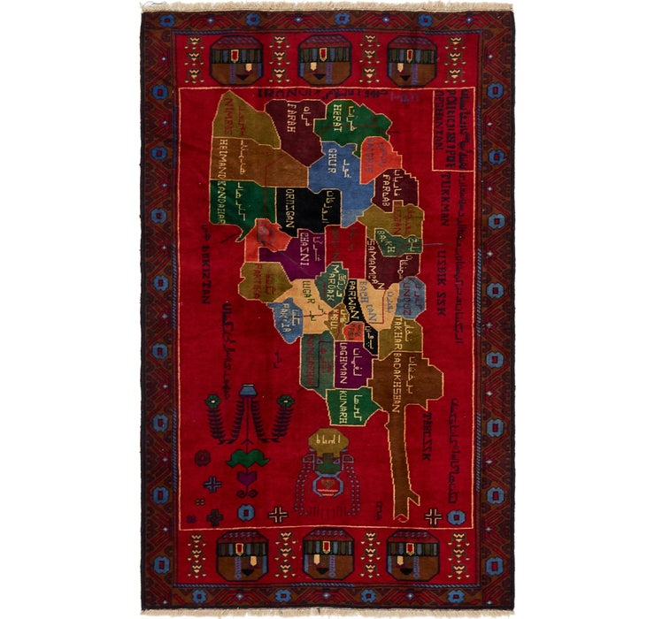 117cm x 193cm Balouch Persian Rug