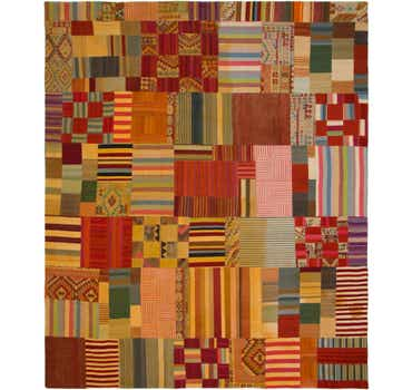 Image of 12' 5 x 15' Kilim Patchwork Rug