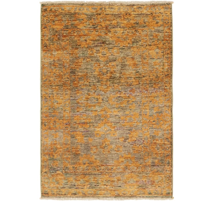 2' 8 x 4' Over-Dyed Ziegler Rug