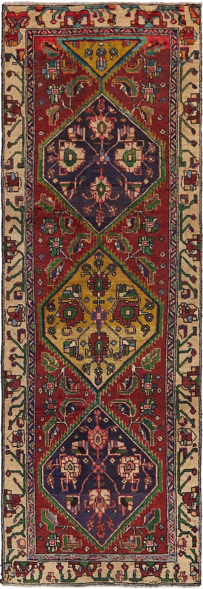 3' 4 x 10' 2 Meshkin Persian Runner Rug main image