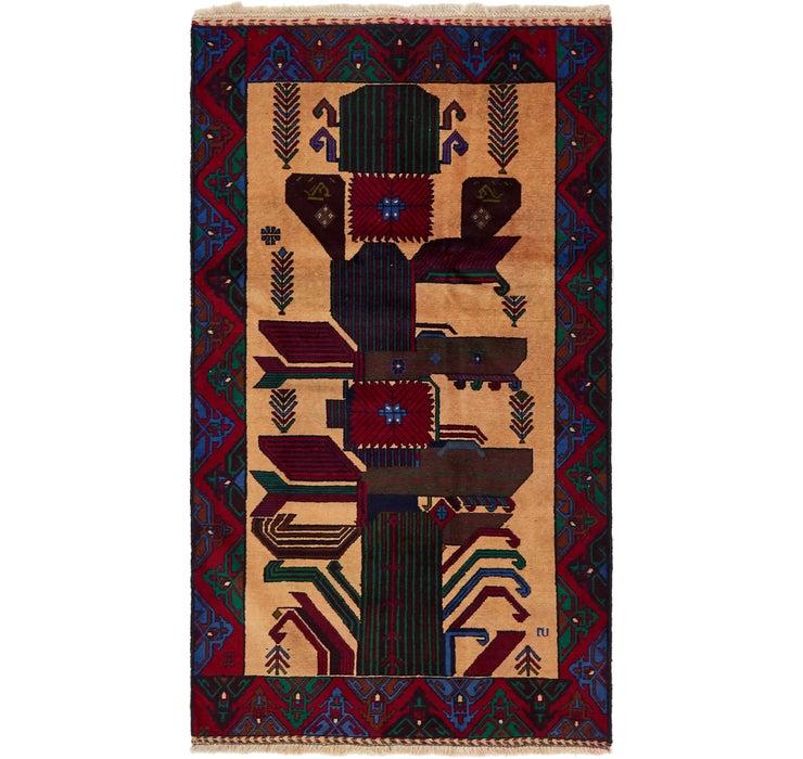 110cm x 193cm Balouch Persian Rug