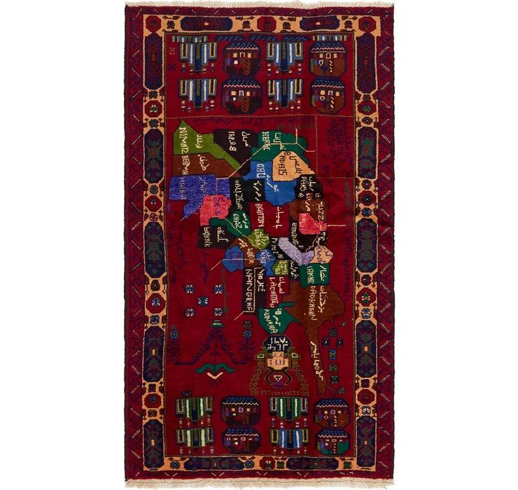 100cm x 188cm Balouch Persian Rug