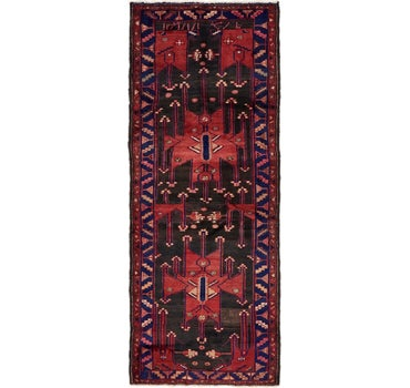 3' 10 x 10' Hamedan Persian Runner Rug main image