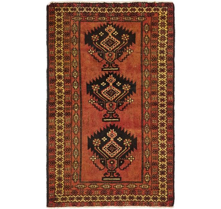 122cm x 208cm Shiraz-Lori Persian Rug