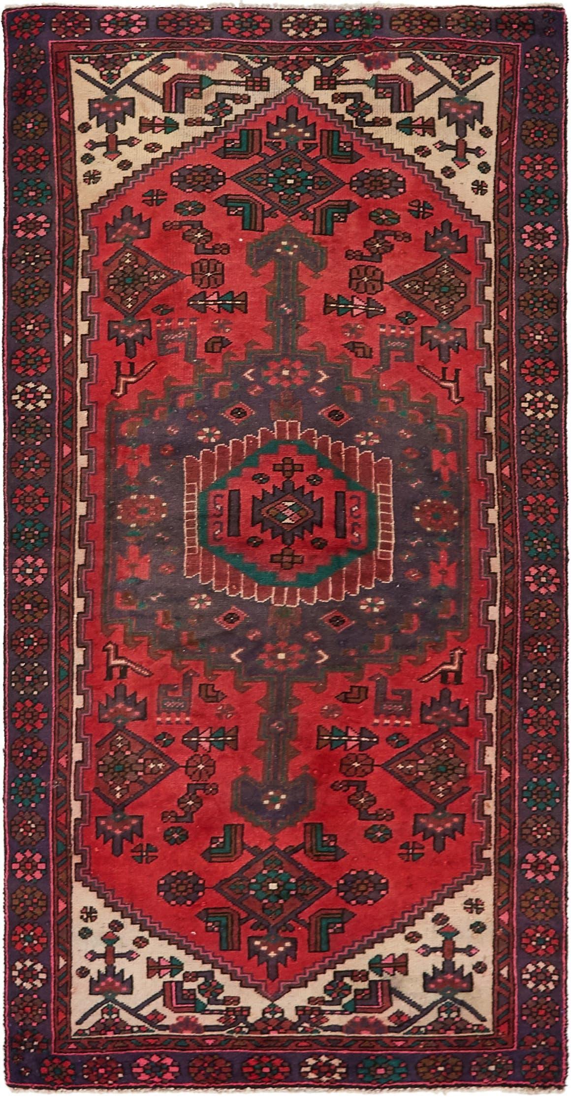 3' 8 x 7' Hamedan Persian Rug main image