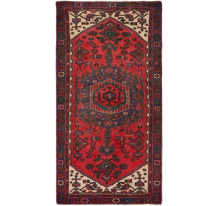 Image of 3' 8 x 7' Hamedan Persian Rug