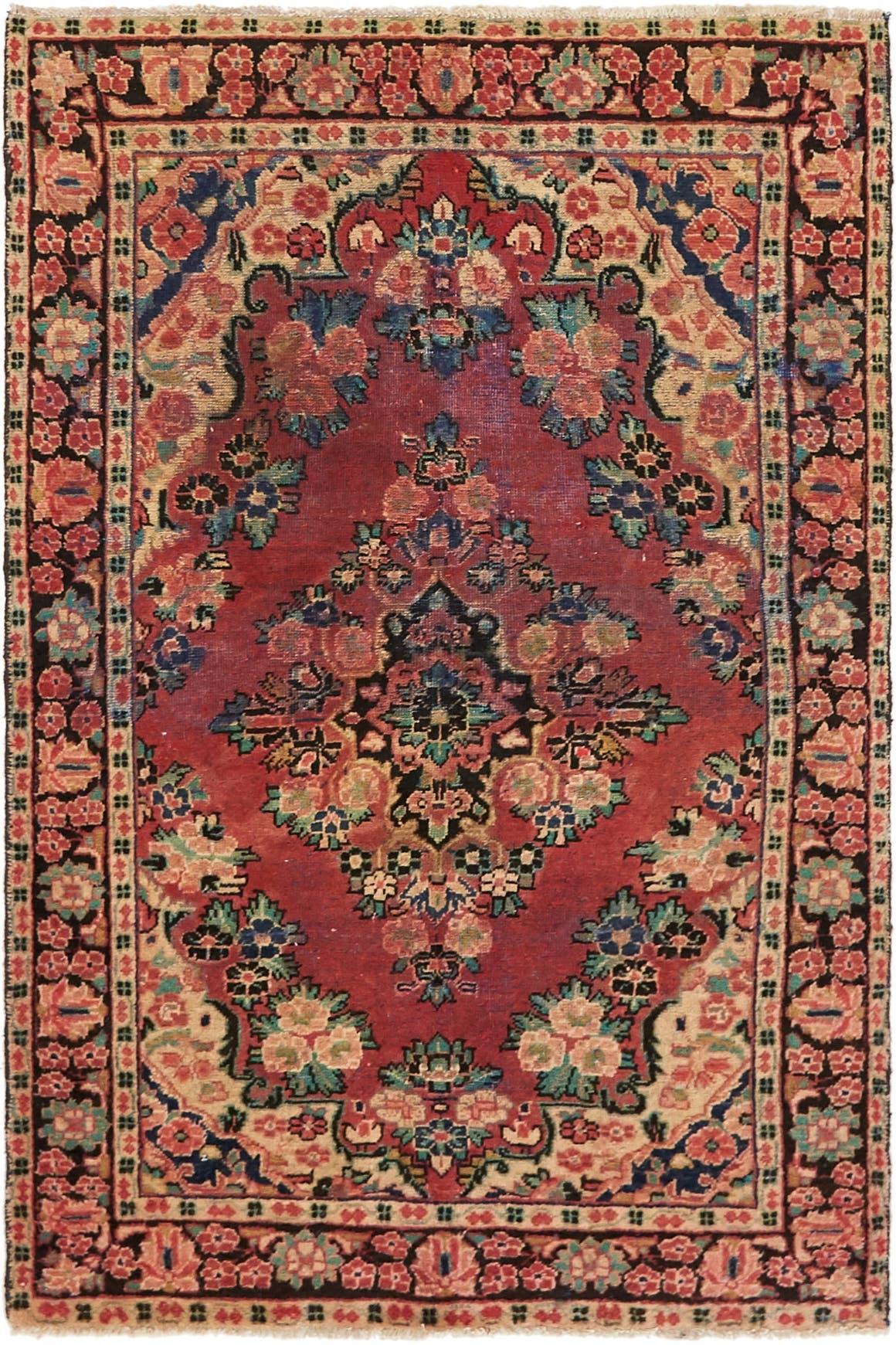 4' x 6' 4 Hamedan Persian Rug main image