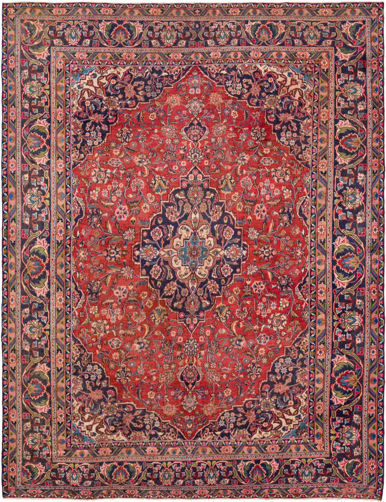Red 9 5 X 12 2 Mahal Persian Rug Handknotted Com