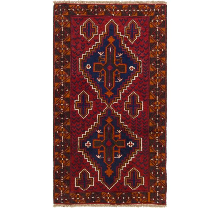 105cm x 195cm Balouch Persian Rug