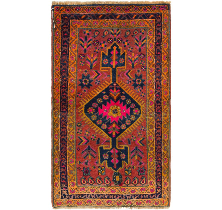 4' 3 x 7' 5 Shiraz-Lori Persian Rug