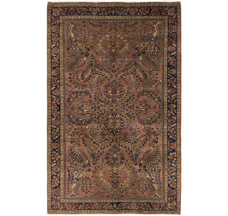 122cm x 193cm Sarough Persian Rug