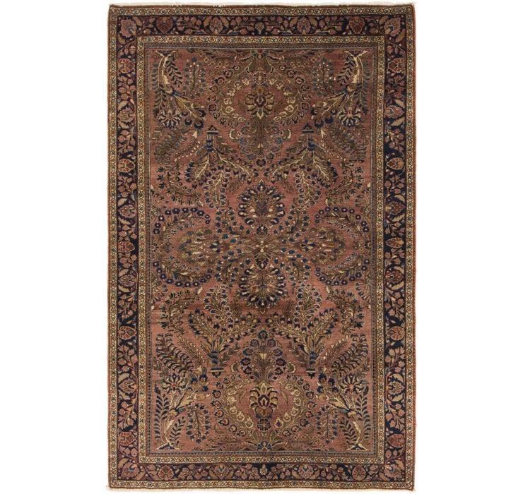 4' x 6' 4 Sarough Persian Rug