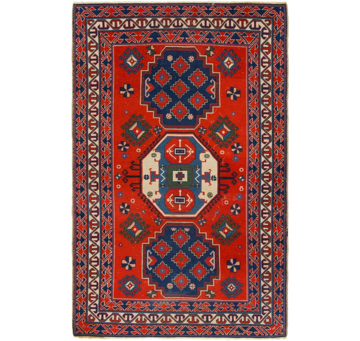 4' 5 x 6' 9 Kars Oriental Runner Rug