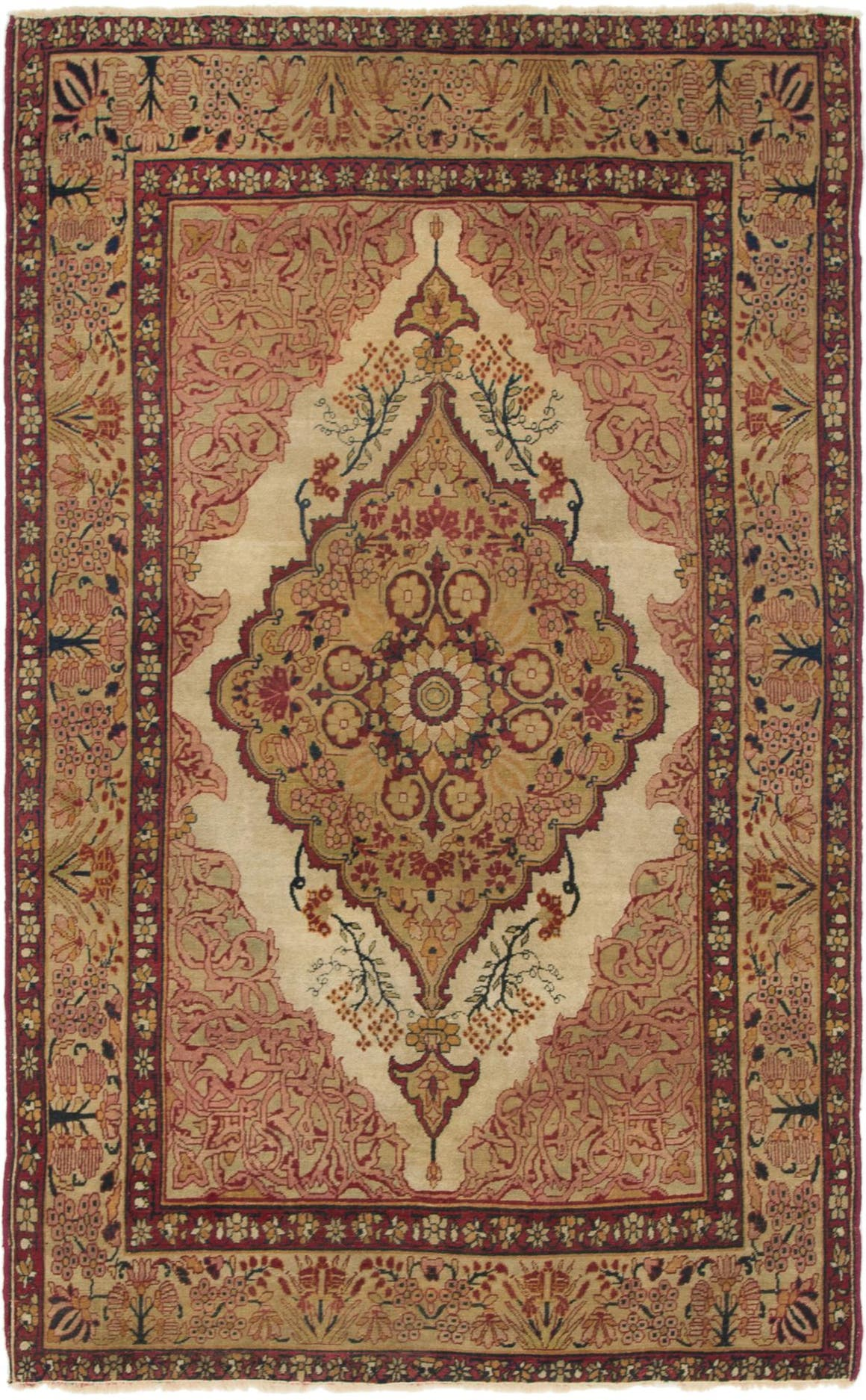 4' 3 x 7' Kerman Persian Rug main image