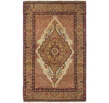 4' 3 x 7' Kerman Persian Rug