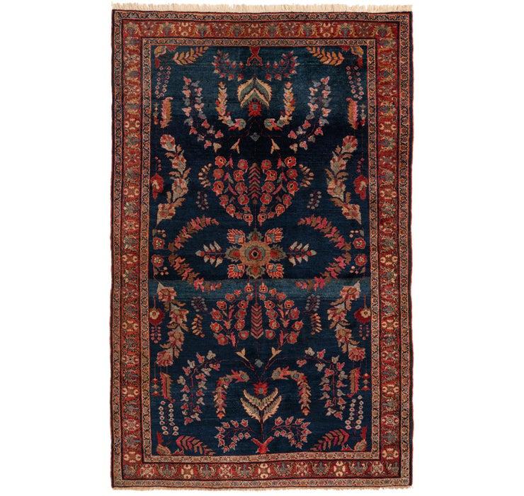 4' 5 x 6' 10 Sarough Persian Rug