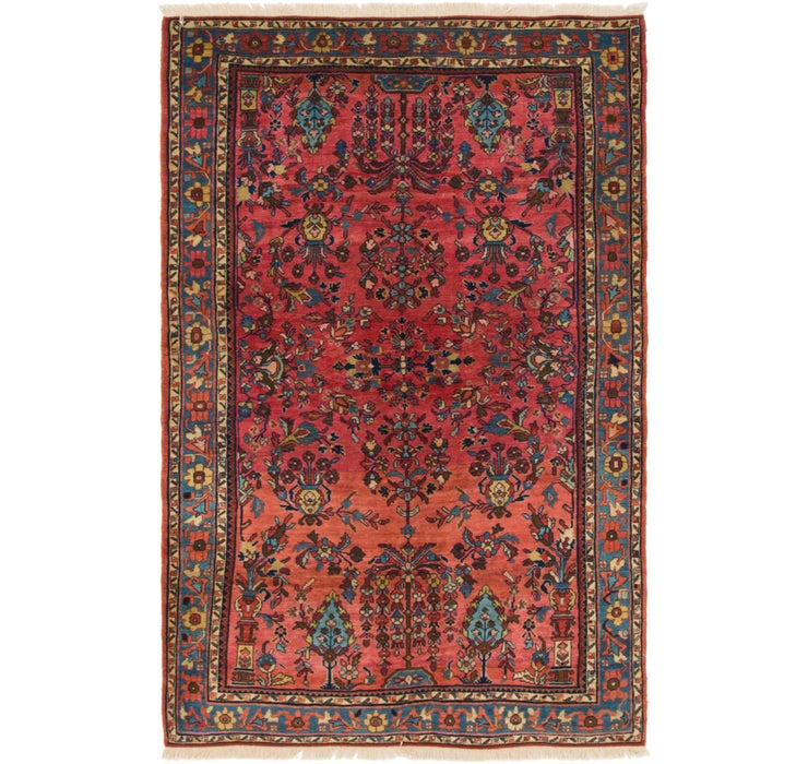 4' 4 x 6' 8 Sarough Persian Rug