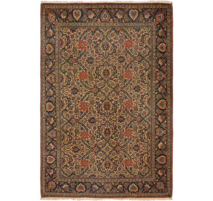 Image of 7' 3 x 10' 9 Kashan Persian Rug