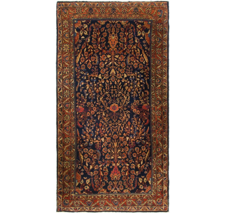 2' 7 x 5' Sarough Persian Rug