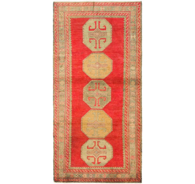 90cm x 190cm Antique Finish Runner Rug