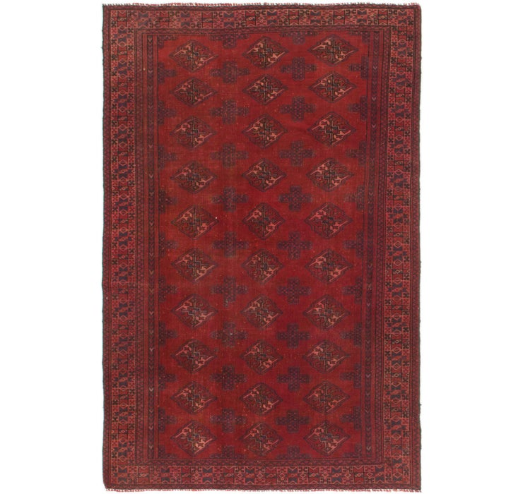 4' 3 x 6' 9 Torkaman Persian Rug