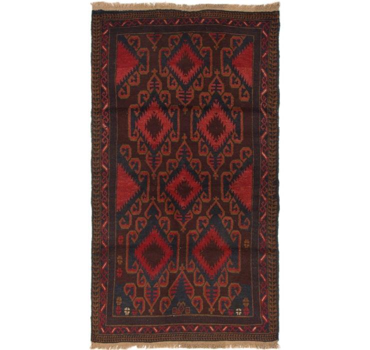 3' 5 x 6' 1 Balouch Persian Rug