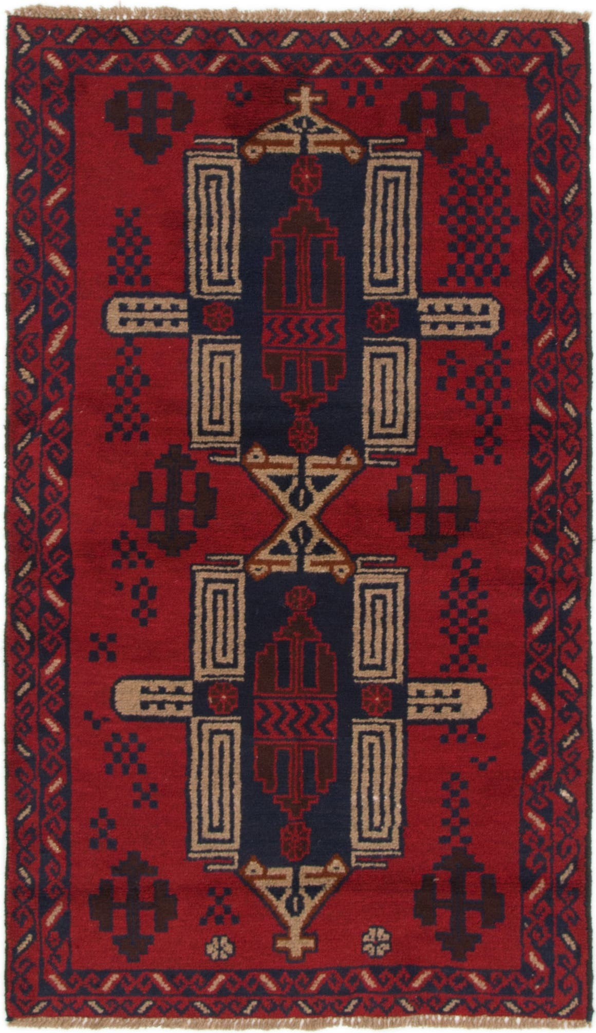 Red 105cm X 183cm Balouch Persian Rug