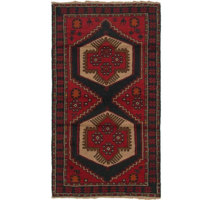 3' 7 x 6' 8 Balouch Persian Rug