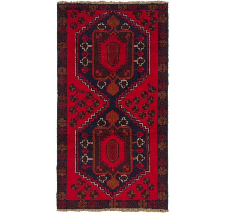 110cm x 198cm Balouch Persian Rug