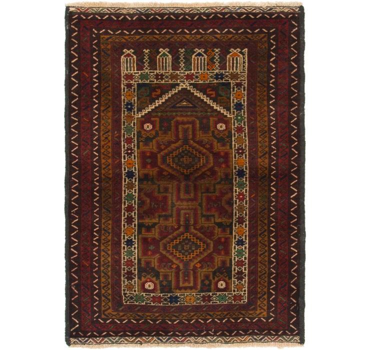 85cm x 122cm Balouch Persian Rug