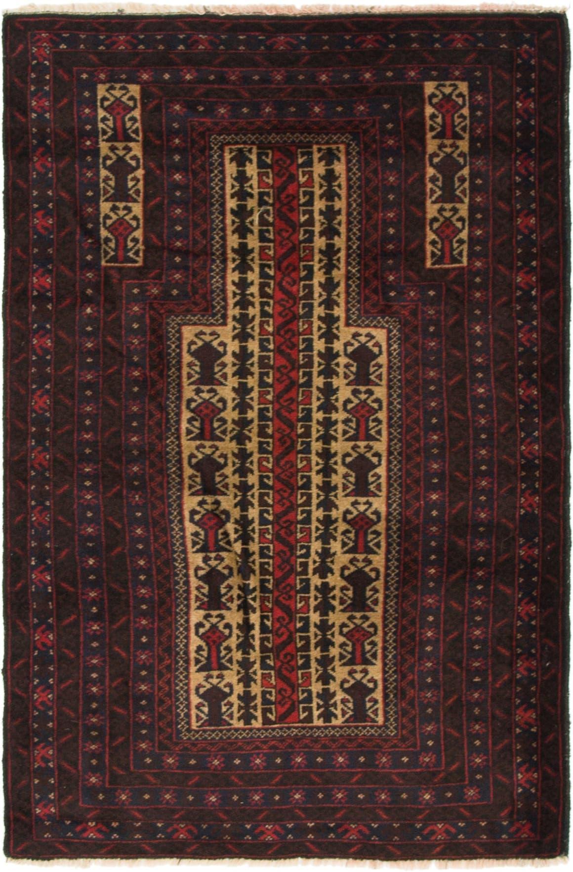 3' 2 x 4' 9 Balouch Persian Rug main image
