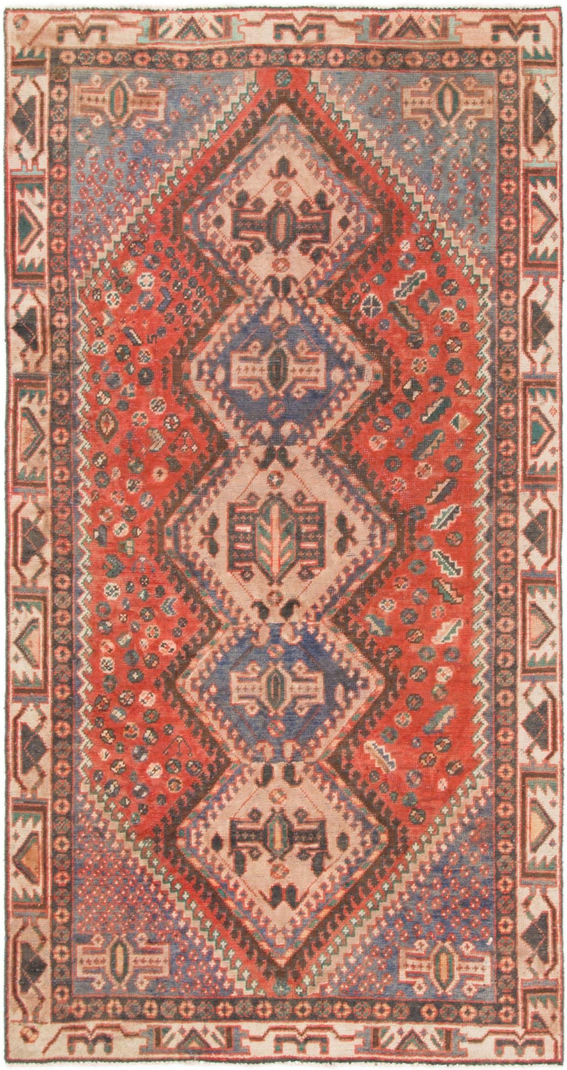 4' 10 x 9' 4 Hamedan Persian Runner Rug main image