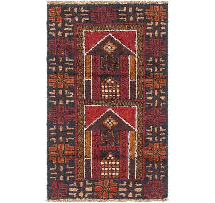 2' 7 x 4' 4 Balouch Persian Rug