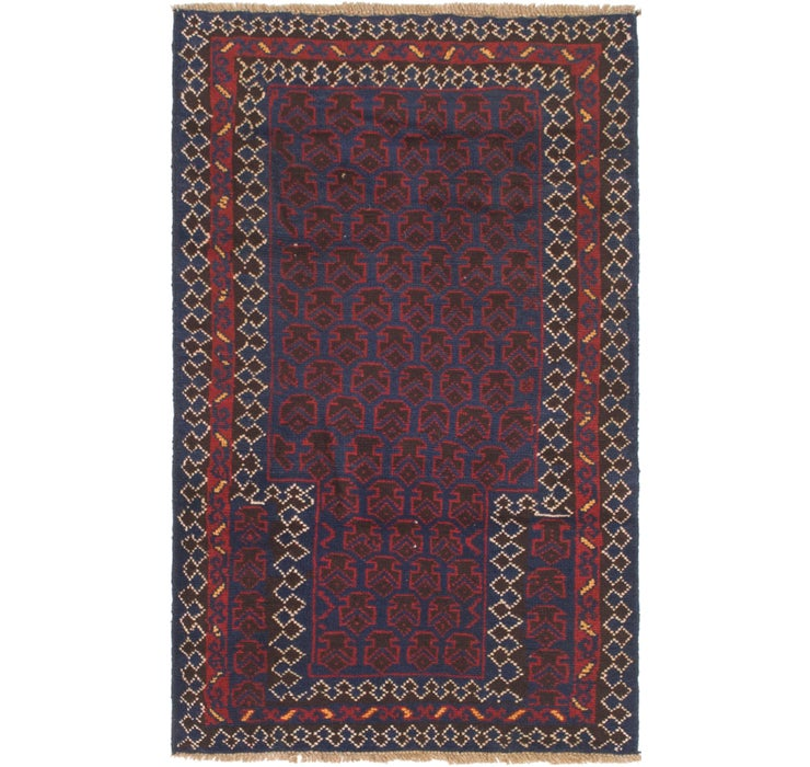 Image of 2' 8 x 4' 7 Balouch Persian Rug