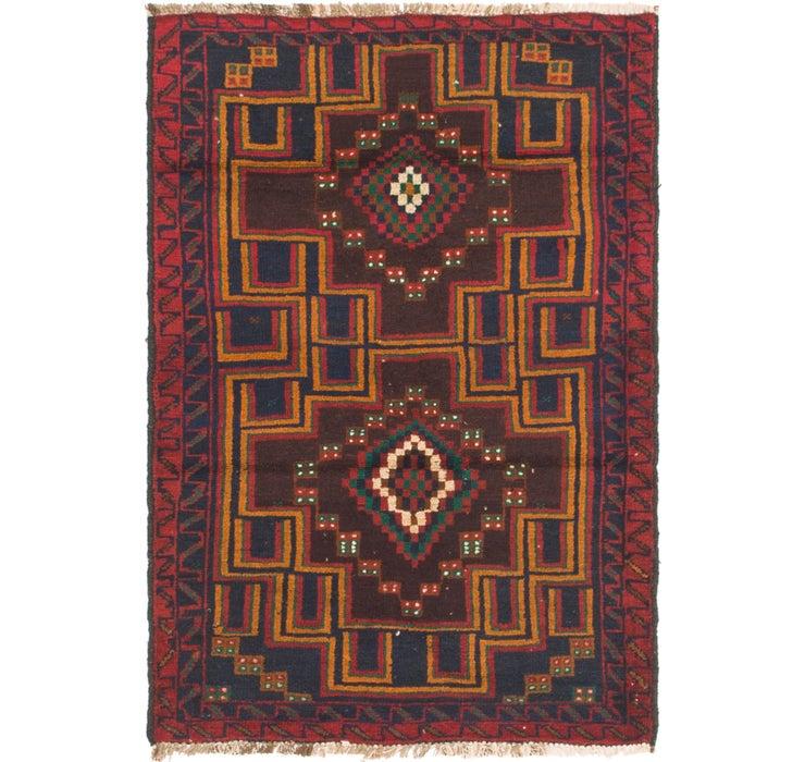 3' x 4' 5 Balouch Persian Rug