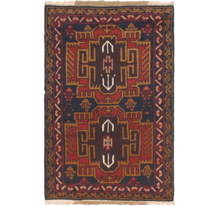 90cm x 140cm Balouch Persian Rug