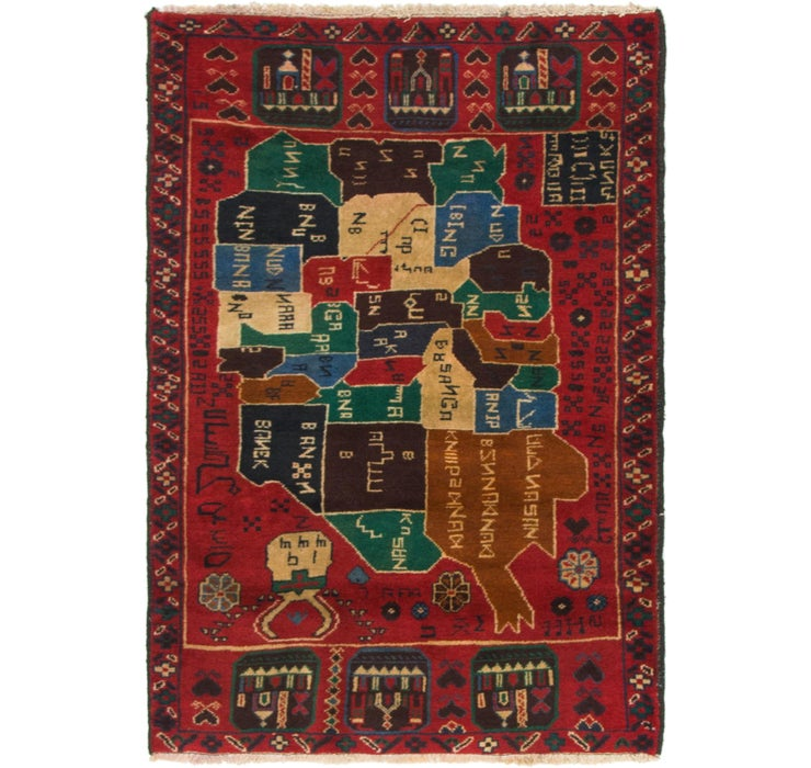 85cm x 132cm Balouch Persian Rug