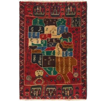 2' 10 x 4' 4 Balouch Persian Rug main image
