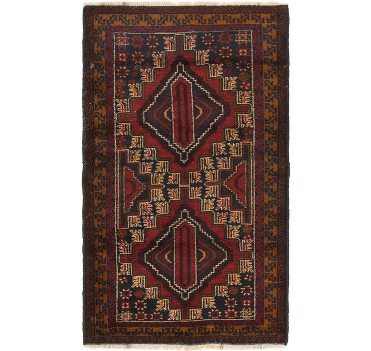 3' 2 x 5' Balouch Persian Rug