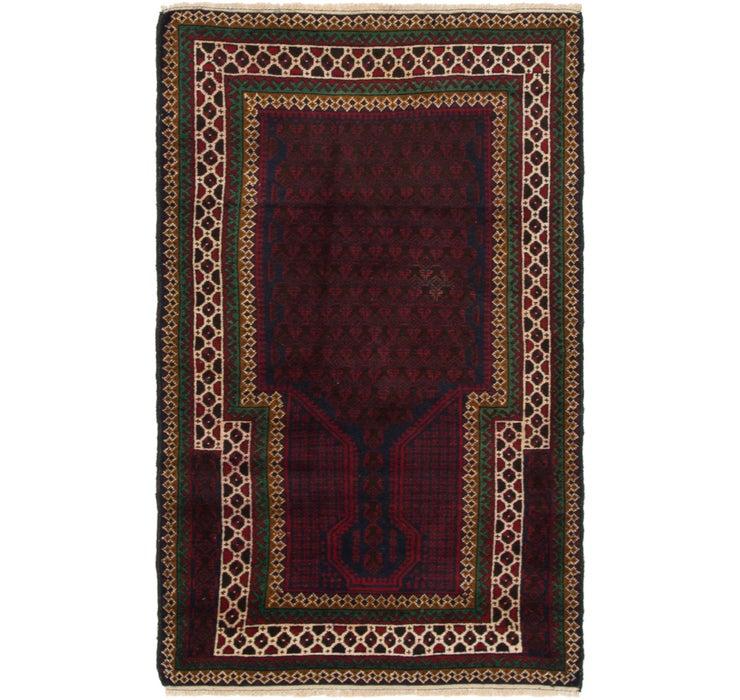 85cm x 147cm Balouch Persian Rug