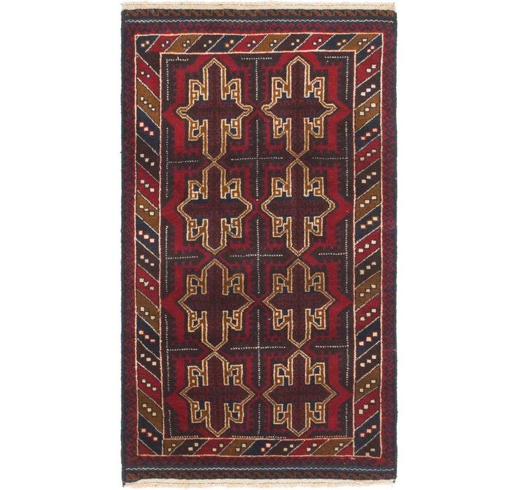85cm x 152cm Balouch Persian Rug