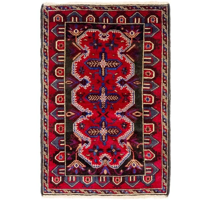 3' 2 x 4' 9 Balouch Persian Rug