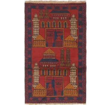 Image of 2' 10 x 4' 9 Balouch Persian Rug