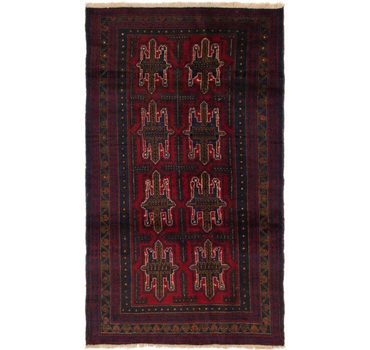 107cm x 193cm Balouch Persian Rug