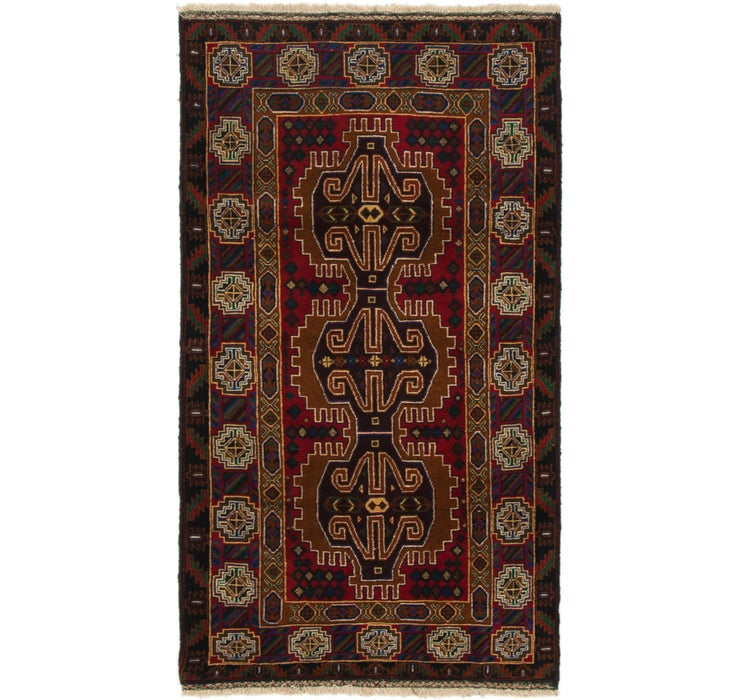 110cm x 200cm Balouch Persian Rug