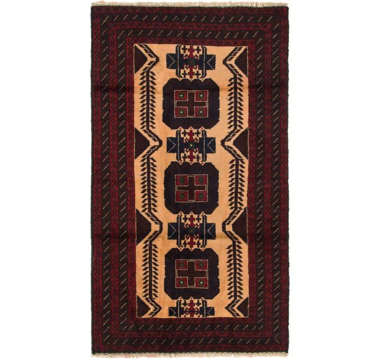 107cm x 195cm Balouch Persian Rug